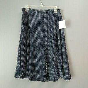 NWT Sheer Polka Dotted Skirt